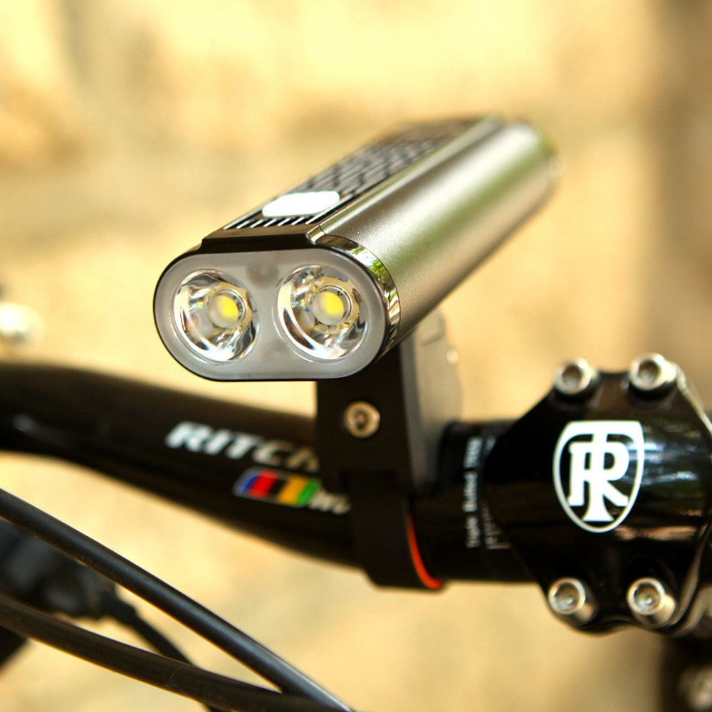 Mago americano Monteer 1400 Luz de bicicleta USB carga compatible MTB bicicleta de carretera linterna ciclismo impermeable Faro de bicicleta - 4