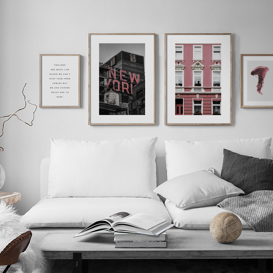 New York Jellyfish Window Quotes Wall Art Canvas Painting Nordic Posters And Prints Wall Pictures For Living Room Pop Art Decor in Painting Calligraphy from Home Garden