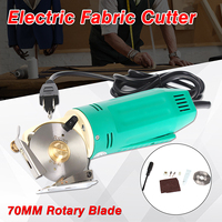 220V Electric Fabric Cutter 70MM Rotary Blade Round Knife Cloth Cutting Power Machine