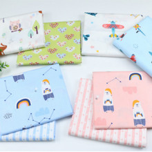 baby cotton bed sheet  Fabric Printed Cotton twill fabric for DIY bedding cloth Sewing patchwork quilting  fabrics