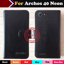 Hot!! In Stock Archos 40 Neon Case 6 Colors Ultra-thin Dedicated Leather Exclusive For Phone Cover+Tracking