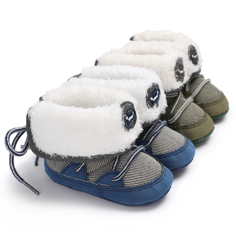 Winter Male Baby 0-1 Years Old Warm Soft Snow Boots Baby Toddler Shoes