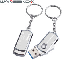 Aço inoxidável USB 3.0 Pen Drive 256GB 128GB USB Flash Drive GB GB 64 32 16GB Pendrive Stick USB com Chaveiro Flash Drive