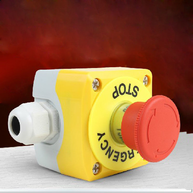 Elevator Lift Safety Emergency Stop Push Button Switch STOP Emergency Stop Switch Boxes Rain BE102C elevator and lift spare parts mtd142 button