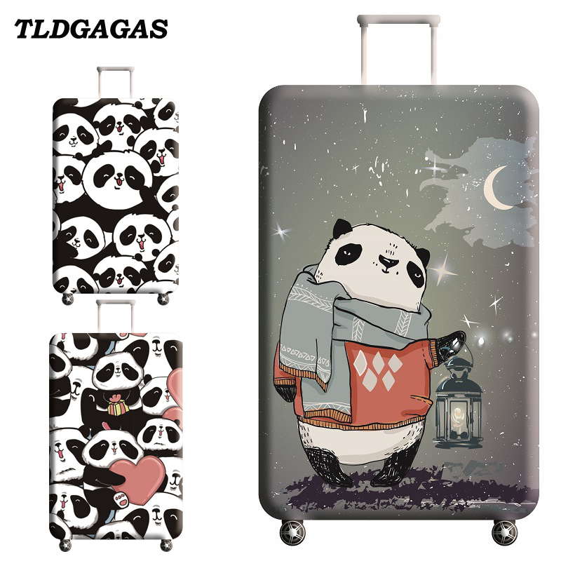 TLDGAGAS Stretch Fabric Cute Panda Luggage Protective Cover Suit 18-32 Inch Trolley Suitcase Case Covers Travel Accessories