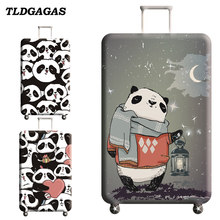 TLDGAGAS Stretch Fabric Cute Panda Luggage Protective Cover Suit 18-32 Inch Trolley Suitcase Case Covers Travel Accessories(China)