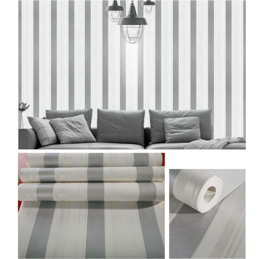 Decorating With Stripes For A Stylish Room: Hot Sale Striped Wallpaper Living Room Tv Backdrop Decor