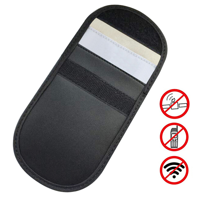 1Pcs Car key Bag Car Fob Signal Blocker Faraday Bag Signal Blocking Bag Shielding Pouch Wallet Case for Privacy Protection New