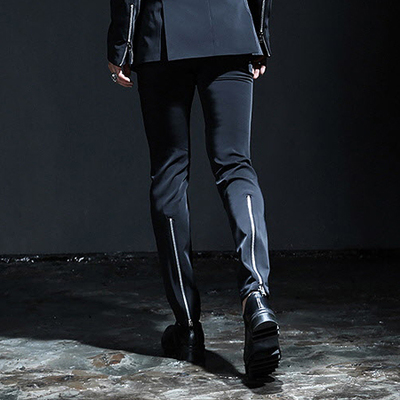 2018 Big Yards Men's 27-44  Black Fashion Business Men's Trousers The Singer's Clothing