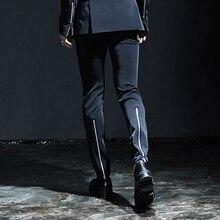 Большие размеры Мужские 27-44 черные модные деловые мужские брюки одежда певицы