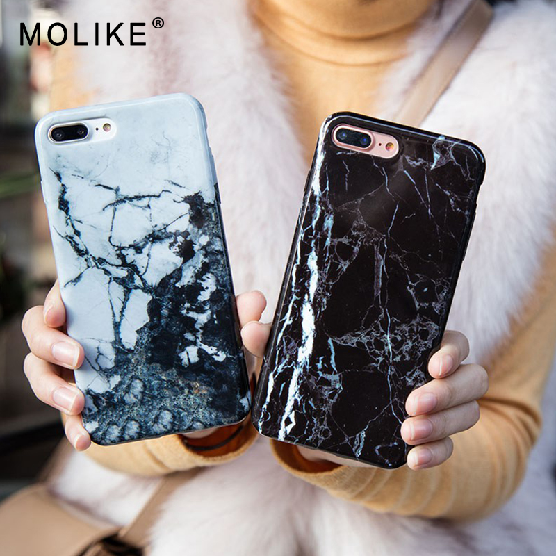 MOLIKE Soft TPU Case For iPhone 6 6S 7 8 X Plus Cover With Marble Patterned High Quality For iPhone...  s iphone 7 case | Top 10 Best iPhone 7 & 7 Plus Cases! MOLIKE Soft TPU font b Case b font For font b iPhone b font 6 6S