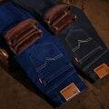 Pantalones Vaqueros de marca Para Hombre Invierno Gruesa negro Fleece Cálido Alta Calidad Ciclista Denim Jean Pantalones Pantalones más el Tamaño 28-42