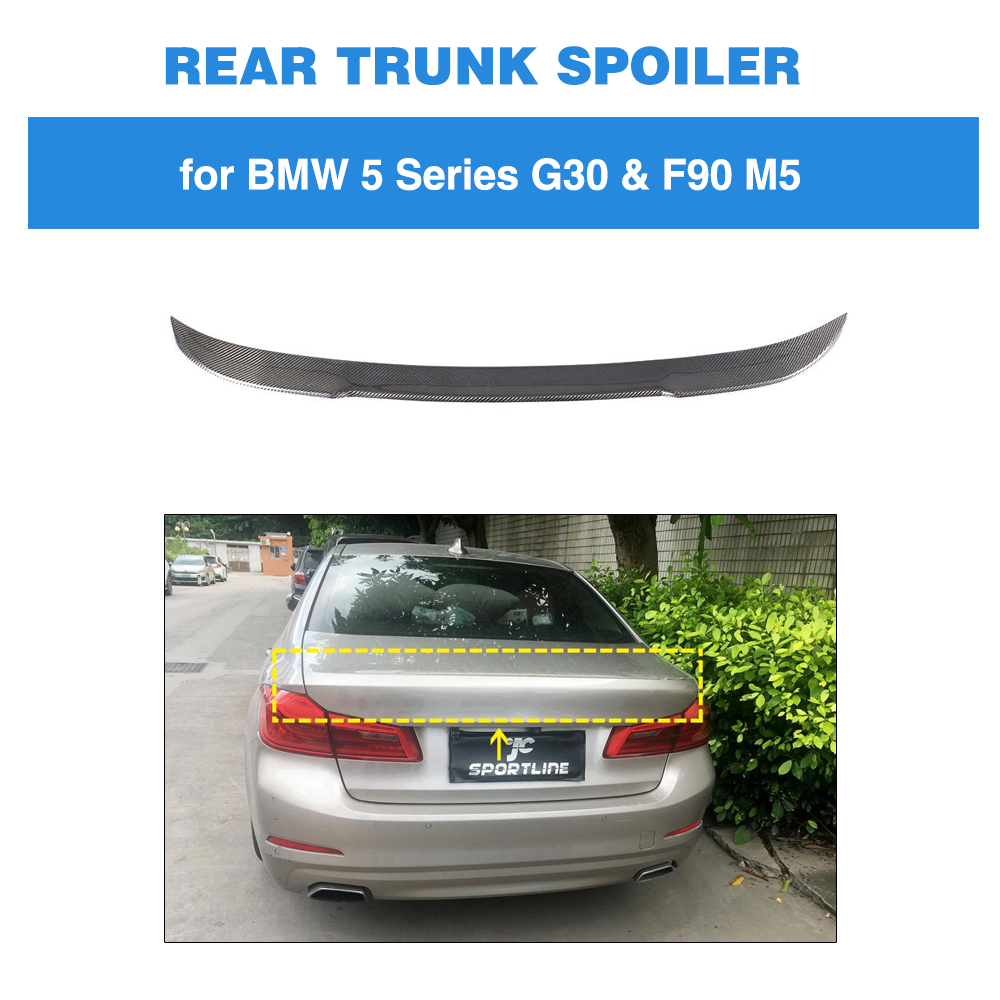 Rear Spoiler for BMW 5 Series G30 G38 F90 Base Sedan M Sport M5 2017 - 2019 Carbon Fiber Trunk Lip M4 StyleRear Spoiler for BMW 5 Series G30 G38 F90 Base Sedan M Sport M5 2017 - 2019 Carbon Fiber Trunk Lip M4 Style