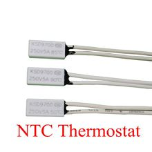 100PCS Thermostat KSD9700/TB05 40C-150C 130C 140C 150C 15*7*3.5 Bimetal Disc Temperature Switch Thermal Protector degree