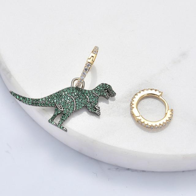 Cute Dinosaur New Fashion Simple Metal Drop Earrings For Women Lovers Ear jewelry Gift Accessories Dangle 4
