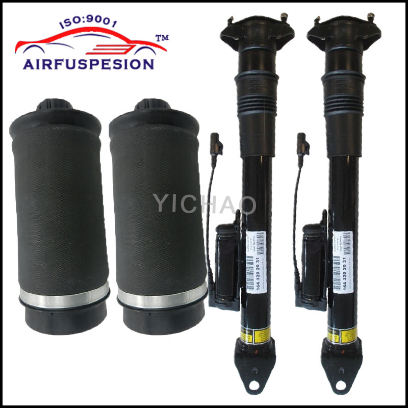 цена на Free Shipping Rear Air Shock 2pcs with ADS and 2pcs Air Spring for Mercedes Benz GL Ml Class X164 W164 A164 3202031 A1643200725