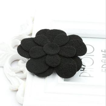 150pcs/lot new Hot flower handmade felt fabric rose flower making Black