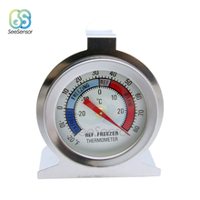 High Quality Refrigerator Freezer Thermometer Stainless Steel Dial Dail Type Fridge Temperature Measure Tool -30-30 Degrees