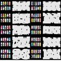 OPHIR Set6 200 Airbrush Nail Art Stencil Design 20 Template Sheets Kit Brush Paint_JFH6