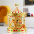 ICONX Piececool Merry-go-round 3D Puzzle Metal Model Toy Carrousel Puzzles For Adults Merry Go Round Creative Gift Kids Toys