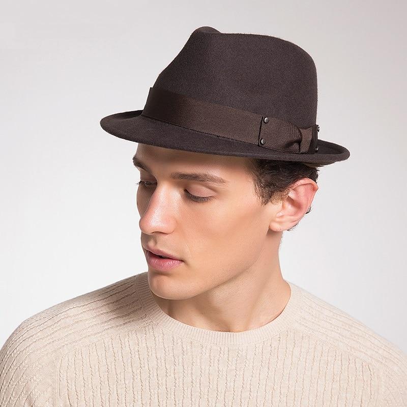 11d0c0b185b Sedancasesa Male fedora hat 100% Australia Wool felt hat Classic Women man  Trilby hats for man fashion Couple Gifts hot selling