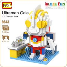 LOZ Blocks Ultraman Gaia Japanese Anime Action Figures Model Building Kits Plastic Assembly Toys For Children DIY Bricks 9643