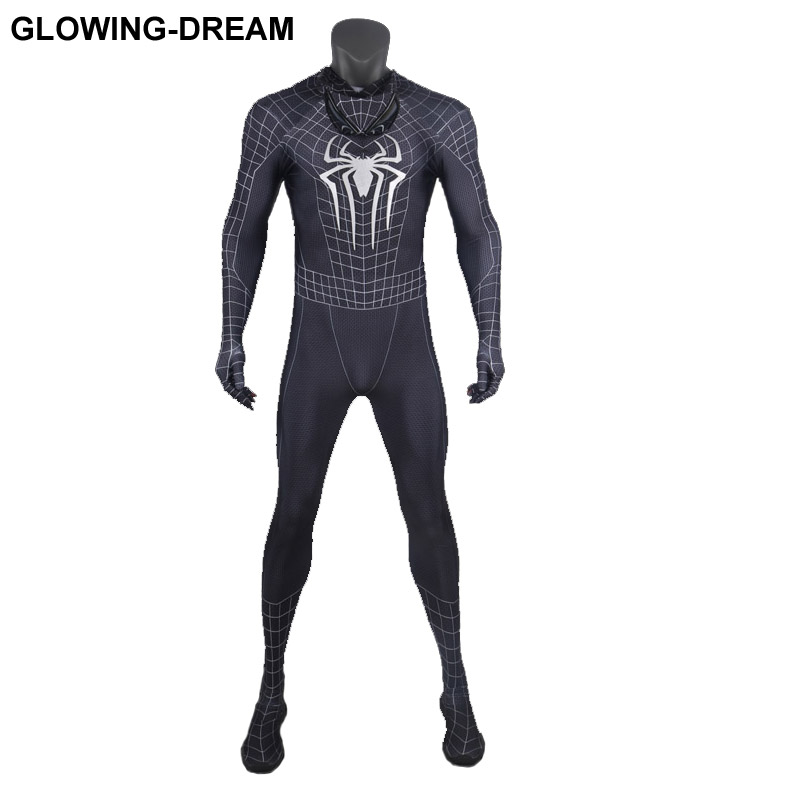 High Quality Amazing Spider Man Cosplay Costume With U-zipper 3D Print Spiderman Fullbody Zentai Suit For Halloween Party