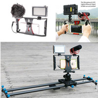 Portable Dual Handheld Video Cage Stabilizer Film Steady Handle Grip Rig For Smart Mobile Phones Video