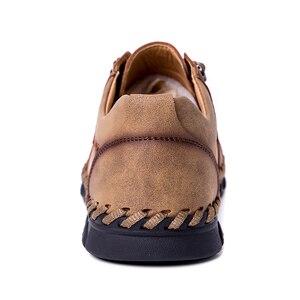 Image 5 - Mynde 2019 yeni moda stil deri bahar rahat ayakkabılar erkekler el yapımı Vintage loaferlar daireler sıcak satış Moccasins büyük boy 38 48