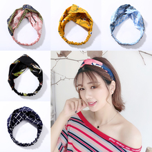Fashion Cross Knot Hairband Girl Cute Turban Elastic Headbands Head Wrap Hair Accessories for Women Striped Headwear Accessories все цены