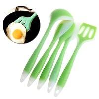 5Pcs Kitchen Cooking Utensil Set Heat Resistant Tool Spoon Spatula Soup Ladle