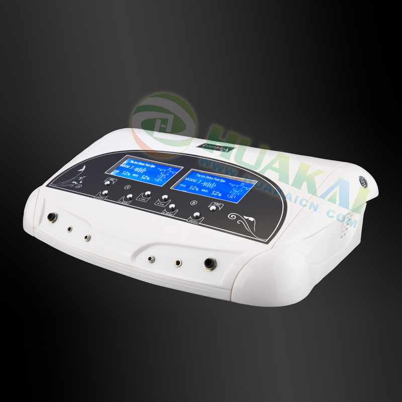 Dual LCD Ionic Cell Detox FOOT Cleanse SPA Machine for healthy life the highest dual detox cell spa machine
