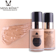 MISS ROSE Brand New 30ML glass bottle foundation repair nourishing concealer foundation color makeup все цены
