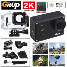 Gitup Git2P WiFi 2K 1080P Full HD Helmet Video HDMI Action Sports Dash Camera 1.5″ LCD Waterproof With 8pcs Accessories Kit