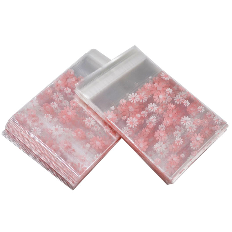 Transparent Flower Cookie Packaging Bag&Gift Candy Bags For Biscuits Snack Baking Package Wedding Party Gift Bag