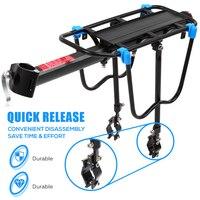 Bicycle Pannier Luggage Carrier Rack Adjustable Bike Cargo Rack Aluminum Alloy Mountain Bike Bicycle Rear Rack