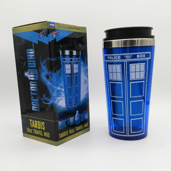 New High Quality Doctor Dr Who Tardis Coffee Cup Stainless Steel Interior Thermos Mug Thermomug Thermocup