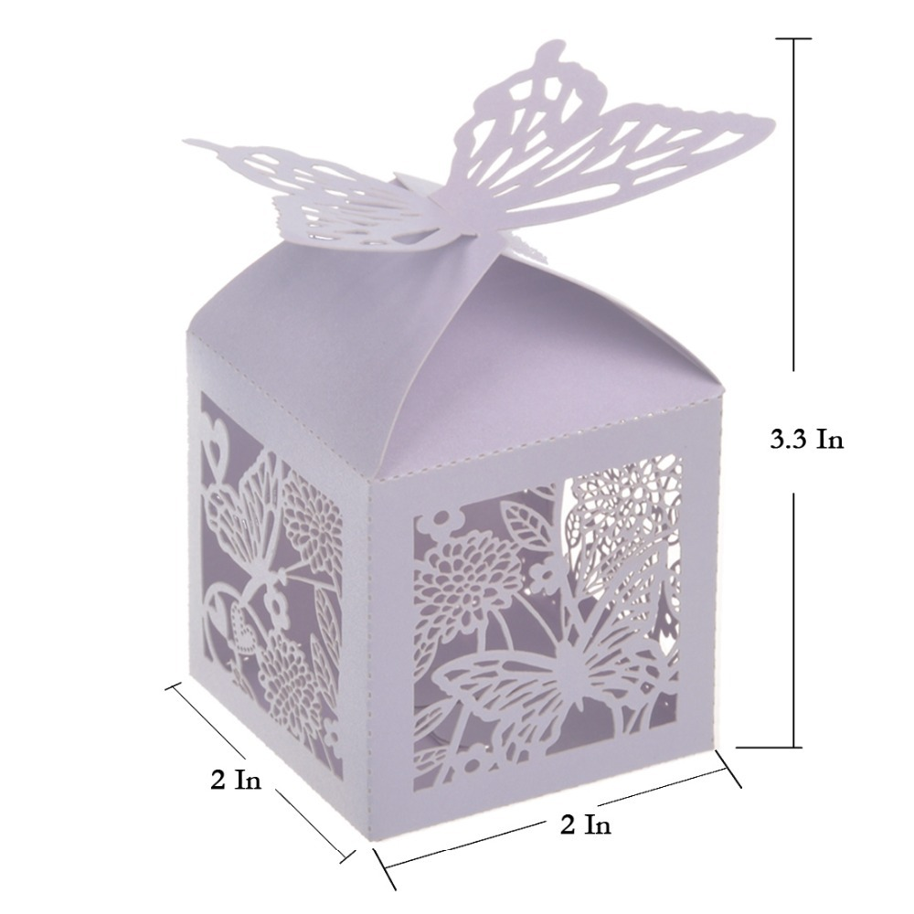 H&D 120pcs/lot Romantic Wedding Favors Decor Butterfly DIY Candy ...