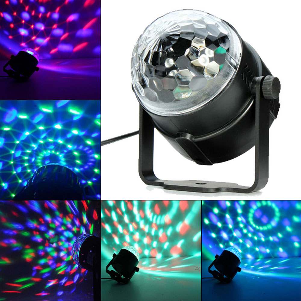 3W RGB LED Crystal Magic Ball Stage Light Bulb for Festival Christmas Party Disco DJ KTV Bar Club Stage Lighting Effect Lamp