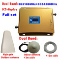 HOT KOOP 3g 4g Cellulaire Signaal Repeater DCS 1800 3g UMTS 2100 Dual Band Mobiel Versterker DCS 1800 mhz 2100 mhz 20dBm Booster