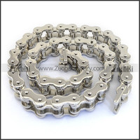 Unique Silver Stainless Steel Motor Bike Chain Link Necklace In The Length Of 605mm For