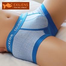EXILIENS Brand New Men Boxer Mens Underwear Cotton Cueca Mas