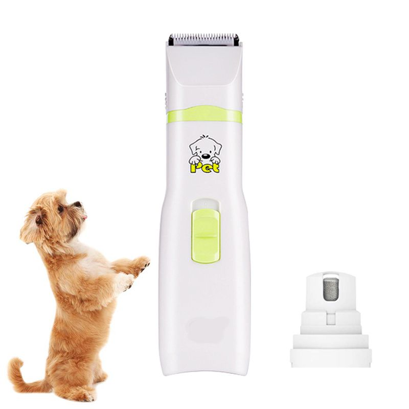 Professional Pet Dog Cat Hair Trimmer Paw Nail Grinder Grooming Clippers Nail Cutter Hair Cutting Machine Pet Nail Care Tool image