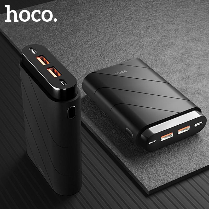 НОСО Quick Charge 3,0 Dual USB Мощность Bank 10000 мАч Портативный PD быстро Зарядное устройство + 18 Вт Мощность доставки Мощность банк Зарядное устройство д…