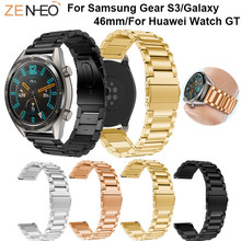 Stainless steel Wrist band 22mm for Samsung Gear S3 Frontier Classic Strap Replace For Huawei Watch GT Bracelet straps watchband цена
