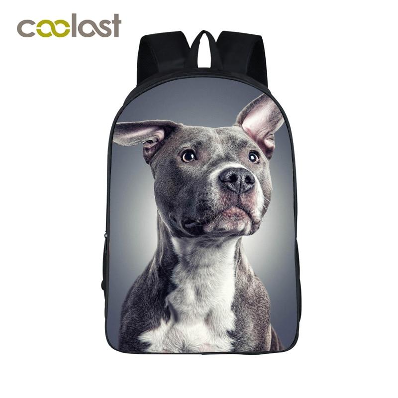 German Shepherd / Pitbull / Husky Backpack For Teenagers Girls Boys Pet Cat Dog Children School Bags Cartoon Women Backpack