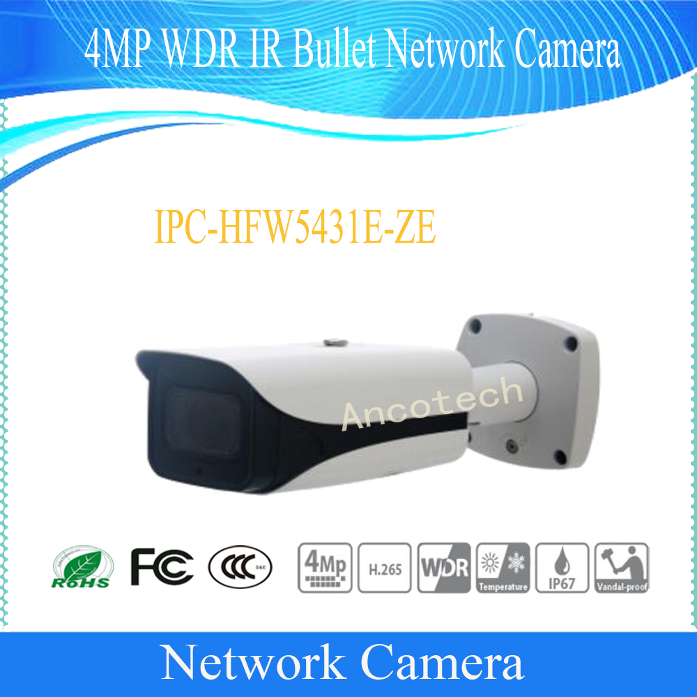 Free Shipping DAHUA Security Outdoor Camera 4MP WDR IR Bullet Network Camera with POE without Logo IPC-HFW5431E-ZE free shipping dahua security ip camera 4mp wdr ir mini bullet network camera ip67 poe without logo ipc hfw4431s