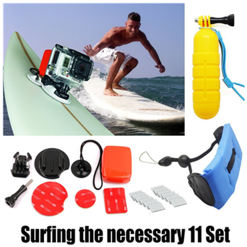 Floaty Bobber Grip Monopod for Go Pro Xiaomi Yi Floating Box Wrist Strap Anti-fog Interts For Gopro Hero 4 3 Sj4000 Accessories