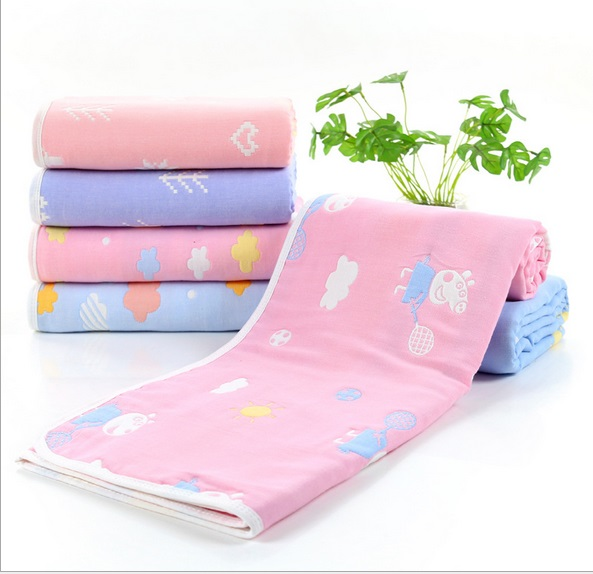 Winter 6 layers Muslin Baby Blankets Newborn Baby Swaddle Wrap Envelope Children Cotton Bath Towel Kids Bedding Quilt Wrap 110CM baby blanket bedding 110cm newborn muslin cotton swaddle wrap kids 6 layers thick receiving blanket gauze bath towel baby boys