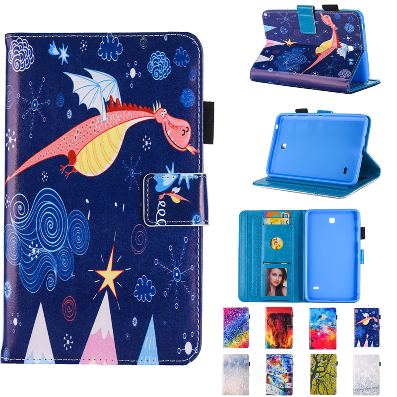 For Samsung Galaxy Tab 4 7.0 SM T230 T231 T235 tablet case Child Festival Gift Cartoon Stand flip leather Skin Protective Cover